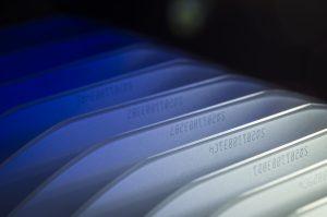 OCR lasermark closeup